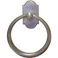 Emtek Sandcast Bronze Towel Ring in Silver Patina