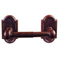 Emtek Tuscany Bronze Spring-Rod Toilet Paper Holder in Deep Burgundy