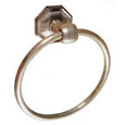 Emtek Tuscany Bronze Towel Ring in Silver Patina