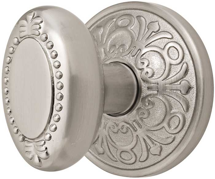 Emtek Beaded Egg Brass Door Knob Shop Door Knobs At Homestead