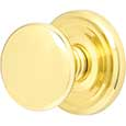 Emtek Providence Brass Door Knob in Polished Brass with Regular rosette