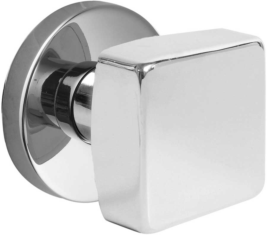 Emtek Modern Brass Square Door Knob Set
