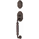 Emtek Knoxville Entry Door Handle Set in Oil Rubbed Bronze