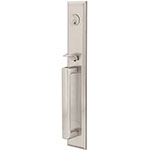 Emtek Melrose Entry Door Handle Set in Satin Nickel