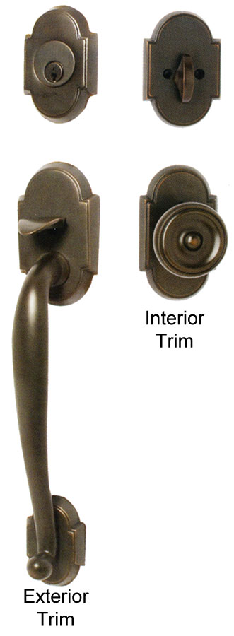 Emtek nashville brass entry door handle shop entry set for Exterior door knobs