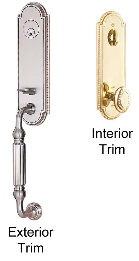 Emtek Orleans Brass Entry Door Handle