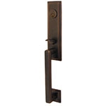 Emtek Wilshire Entry Door Handle Set in Oil Rubbed Bronze