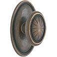 Emtek Parma Bronze Door Knob in Medium Bronze with Style #14 rosette