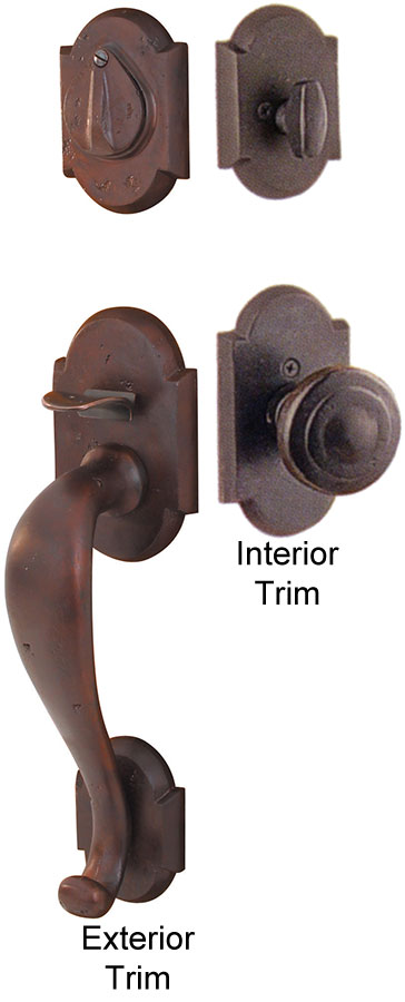 Emtek Denver Sandcast Bronze Entry Door Handle Shop Entry Set Door