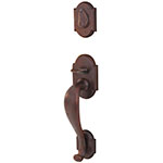 Emtek Denver Entry Door Handle Set in Deep Burgundy