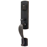 Emtek Sheridan Entry Door Handle Set in Flat Black