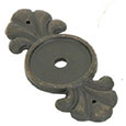 Emtek Bronze Backplate for Cabinet Knobs in Medium Bronze