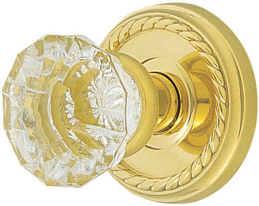 Emtek Astoria Clear Crystal Door Knob - Shop Glass Door Knobs at ...