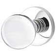 Emtek Bristol Crystal Door Knob in Polished Chrome with Disk rosette