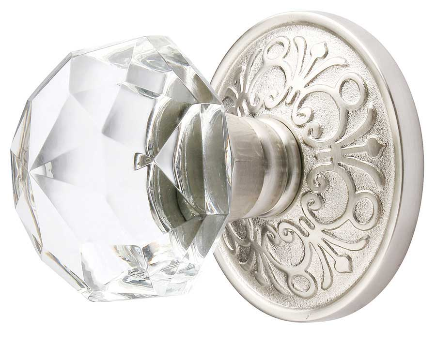 Emtek Crystal Diamond Door Knob Set