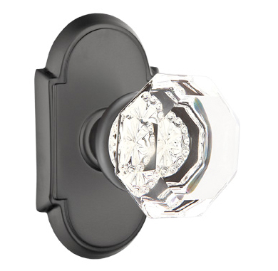 emtek crystal old town clear door knob set
