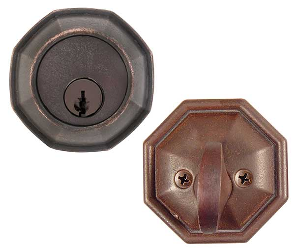 Emtek Octagon Bronze Deadbolt Door Lock Shop Security
