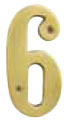 "Emtek Brass 6"" ""6"" Address Number in PVD"