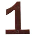 "Emtek 4-inch Bronze ""1"" Address Number in Deep Burgundy"