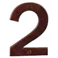 "Emtek 4-inch Bronze ""2"" Address Number in Deep Burgundy"