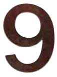 "Emtek Bronze 6"" ""9"" Address Number in Deep Burgundy"