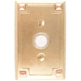 Emtek Arts & Crafts Brass Doorbell Cover in Satin Brass