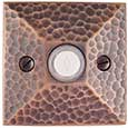 Emtek Hammered Brass Doorbell Cover in Oil Rubbed Bronze