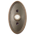 Emtek Oval Brass Doorbell Cover in Oil Rubbed Bronze