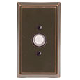 Emtek Rectangular Brass Doorbell Cover in Oil Rubbed Bronze