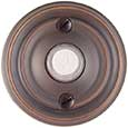 Emtek Regular Brass Doorbell Cover in Oil Rubbed Bronze