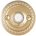 Emtek Rope Brass Doorbell Cover in PVD