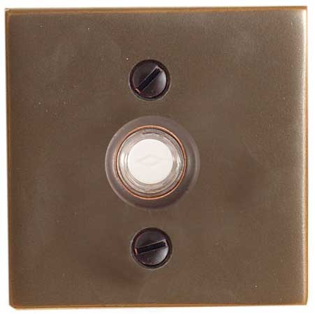 Emtek Square Style Brass Doorbell Cover Shop Home Decor