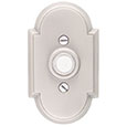 Emtek Style #8 Brass Doorbell Cover in Satin Nickel