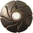 Emtek Style #17 Bronze Doorbell Cover in Medium Bronze