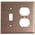 Emtek Colonial 1-Toggle/1-Duplex Brass Switch Plate in Oil Rubbed Bronze