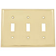 Emtek Colonial 3-Toggle Brass Switch Plate in PVD