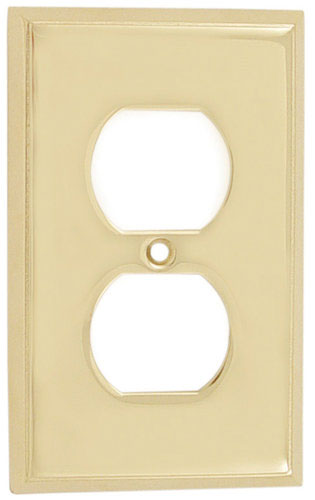 Emtek colonial 1 duplex brass outlet cover shop home for Outlet colonial
