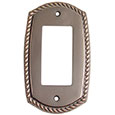 Emtek Rope 1-Rocker Brass Switch Plate in Oil Rubbed Bronze