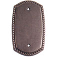 Emtek Rope Blank Brass Switch Plate in Oil Rubbed Bronze