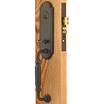 Emtek Hamilton Brass Mortise Door Lock Set in Oil Rubbed Bronze