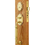 Emtek Jackson Brass Mortise Door Lock Set in PVD