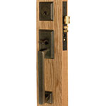 Emtek Mills Brass Mortise Door Lock Set in Oil Rubbed Bronze