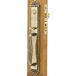 Emtek Versailles Brass Mortise Door Lock Set in French Antique