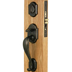 Emtek Denver Bronze Mortise Door Lock Set in Flat Black