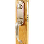 Emtek Octagon Bronze Mortise Door Lock Set in Silver Patina