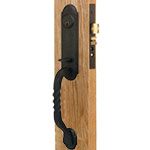 Emtek San Carlos Monolithic Mortise Door Lock Set in Flat Black