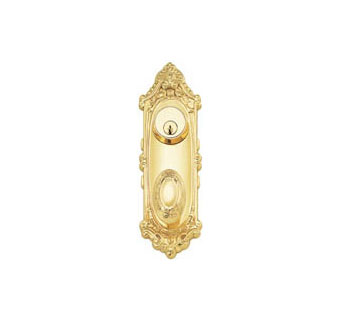 Emtek Products Inc Emtek 9  Victoria Style Brass Door Handle-Plate  sc 1 st  Homestead Hardware : decorative door plates - pezcame.com