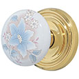 Emtek Courtney Door Knob in Polished Brass with Regular rosette