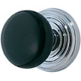 Emtek Ebony Door Knob in Polished Chrome with Regular rosette