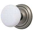 Emtek Ice White Door Knob in Pewter with Regular rosette